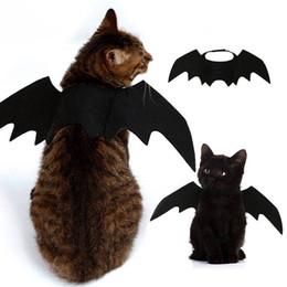 Halloween Costume Black Vampire Dress Australia - Pet Cat Costumes Bat Wings Vampire Black Cute Fancy Dress Up Pet Dog Cat Halloween Costume Gift