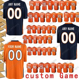 9a3ba5463 custom Game Denver 88 Demaryius Thomas Bronco Jersey 95 Derek Wolfe 80 Jake  Butt 7 John Elway 12 Paxton Lynch 30 Terrell Davis Jerseys