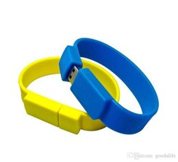 drive bracelet NZ - Amazing HOT 4GB 8GB Silica gel Bracelet USB Flash Drives Brand New Soft Bracelet U Disk USB2.0