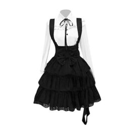 Wholesale lolita gothic dress for sale – halloween Vintage Elegant Party Gothic Summer Women Lolita Dresses Big Size Chic Ruffles Lace Up Bowknot Retro Princess Female Goth Dress T5190614