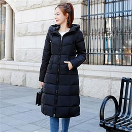 Women Warm Parka Australia - M-6XL Plus Size Winter Down Jackets Women Fashion Thicken Warm Parkas Cotton Outwear Long Slim Coats Female Winter Outwear Parka