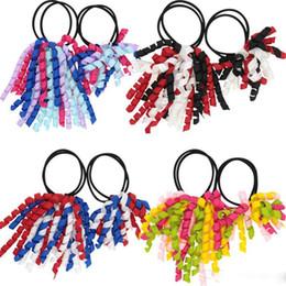 $enCountryForm.capitalKeyWord UK - Girl A-korker Ponytail holders korkers Curly ribbons streamers corker hair bobbles bows flower elastic school boosters headwear