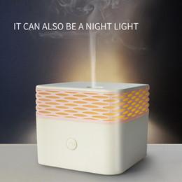 Humidificateur d'air ultrasonique TAMAX UP012 Magic X USB120mL à parfum d'huiles essentielles Aroma Diffuseur blanc chaud LED humidificateurs pour bureau à domicile en Solde