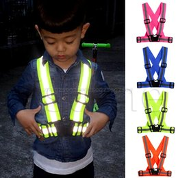Wholesale Security Gear Australia - Kids Adjustable Safety Security Visibility Reflective Vest Gear Stripes Jacket F21 19 Dropship