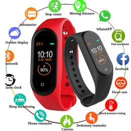 $enCountryForm.capitalKeyWord Australia - M4 Smart Bracelet Fitness Tracker PK Mi band 4 Fitbit Style Sport Smart Watch 0.96 inch IP67 Waterproof Heart Rate Blood Pressure