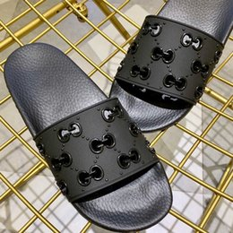 Sole flip flopS menS online shopping - Fashion Mens Rubber Slide Sandals Womens Summer Flat Sandals with Cut Out Motif Design Slippers in Classic Molded Rubber Sole with Box