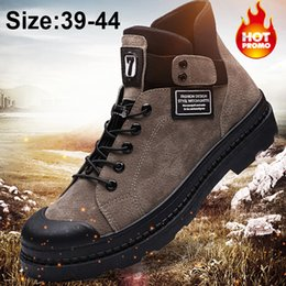 warm waterproof winter sneakers NZ - 2020 Winter Men's Boots Warm PU Leather Male Waterproof Shoes Chaussure Mans Casual Shoes For Men Boots Footwear Male Sneakers LY191217