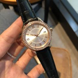 $enCountryForm.capitalKeyWord Australia - 2019 New Luxury Fashion Simple Casual Waterproof High-End Exquisite Dermal Pure Black Diamonds Ladies Watch