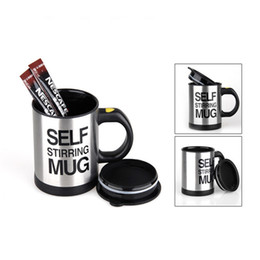 lazy mug Australia - 400ml Mugs Automatic Electric Lazy Self Stirring Mug Cup Coffee Milk Mixing Mug Smart Stainless Steel Juice Mix Cup Drinkware