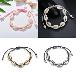 $enCountryForm.capitalKeyWord NZ - Free DHL Fashion Natural Shell Anklet Bracelet Handmade Bohemian Seashell Bracelets Hawaiian Summer Gift Adjustable Beach Foot Jewelry M398F