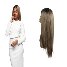 32 Hair NZ - # 1b 126 color straight human hair lace front wigs lace front wigs Shiningstar 14-32Inch With 150% Density Remy Hair Ombre Wig