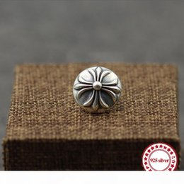 brooch flower needle UK - S925 sterling silver brooch personality retro style punk-style iris flower needle round cross shawl send lover's gift jewelry