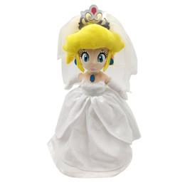 $enCountryForm.capitalKeyWord UK - EMS Super Mario Bros Odyssey Princess Peach With Wedding Dress 33CM Plush Doll Party Soft Gift Stuffed Toy