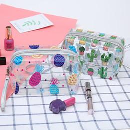 $enCountryForm.capitalKeyWord NZ - Ladies' Transparent Cosmetic Bag 4 Designs Cartoon Girl Storage Bag PVC Toiletries Bag 17*11CM Bathroom Bags 15 Pieces DHL