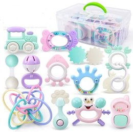 BaBies toy Boxes online shopping - Baby boy girl Teether Silicone Teether Baby Teething Toy ABS Food Grade Silicone Chewable Pendant Teething Nursing Accessory Shower Gift box
