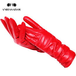 leather wrist gloves NZ - 2019 fashion new products winter leather gloves short leather gloves women Wrist tightening design winter leather gloves women Y191024