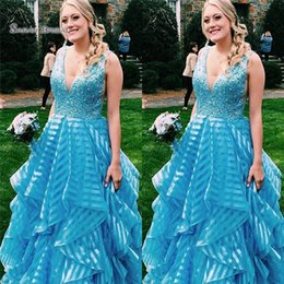 Pear Color Dress Australia - 2019 V-neck Tulle Beads Floor Length Prom Dresses Sleeveless High End Quality Evening Party Dress Hot Sales