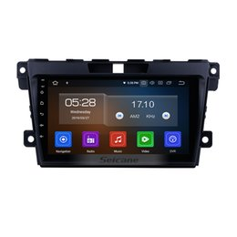 mazda car dvd gps navigation UK - 9 inch Android 9.0 Car Radio for 2007-2014 MAZDA CX-7 with Bluetooth GPS navigation WIFI USB support OBD2 Steering Wheel Control car dvd