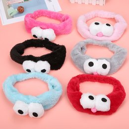 $enCountryForm.capitalKeyWord Australia - Women Fashion Big Eyes Spot Coral Fleece Elastic Hair Bands Women Hair Scrunchie Rubber Bands Headbands Lady Accessories