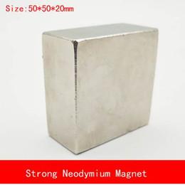 Neodymium N52 Block Magnet Australia - 1PCS block 50x50x20mm N52 Super Powerful Strong Rare Earth Block NdFeB Magnet Neodymium N38 N52 Magnets