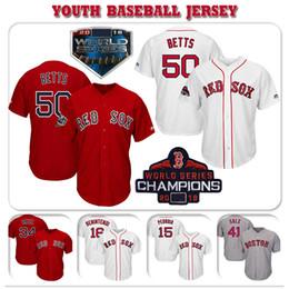 $enCountryForm.capitalKeyWord Australia - Custom Boston Youth Kids High quality knit Jersey Red Sox Mookie Betts & Andrew Benintendi & David Ortiz & Dustin Pedroia Baseball Jerseys