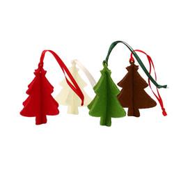 Gift Craft Christmas Ornament Australia - 10PC Christmas Tree Ornament Hanging Pendant Embellishment Felt Craft Gifts Party Decor Pendants Wholesale noOT25