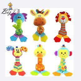$enCountryForm.capitalKeyWord Australia - toy hot air balloon HOT 25cm Infant Baby Rattles Monkey Lion Dog Giraffe Soft Plush Toys Stuffed Kid Car Mobiles BaBy Sounder
