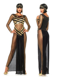 goddess costume women Canada - Egypt Cleopatra Goddess Roman Egyptian Ladies Halloween Fancy Dress Costume 8822