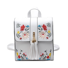 $enCountryForm.capitalKeyWord Australia - Fashion Embroidery Girl Backpacks Cute School Bags Women Backpack PU Leather Female Shoulder Bag Mochilas Mujer Feminina Bags