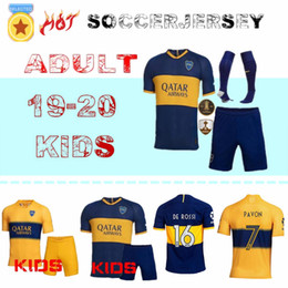 Soccer boca online shopping - 19 Boca Juniors Home Soccer jerseys Uniforms Men s or kidsThai Quality Soccer Jersey Boca Away Football Blue White Pavon GAGO TEVEZ