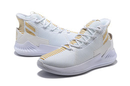 White Rose Stores Australia - D Rose 9 white Gold shoes for sales new Derrick Rose 9 Basketball shoes store wholesale price US7-US11.5