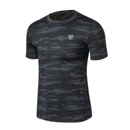 $enCountryForm.capitalKeyWord Australia - Camouflage Short Sleeve T Shirt Fitness Men Bodybuilding Crossfit Compression Shirts Clothing Weight Lifting Tops Wear