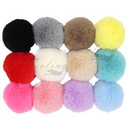 $enCountryForm.capitalKeyWord NZ - Cheap Key Chains Pack of 12 DIY 6cm 2.36inch Faux Fur Pompoms for Hat Rex Rabbit fur Ball Keychain Bag Charm Accessories