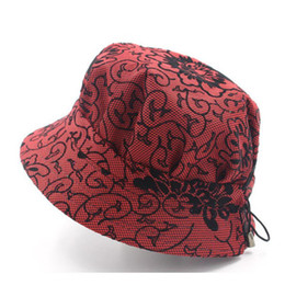 Fedoras Women Mother grandmother Fashionable Sun Hat Floral Fisherman  Panama spring autumn Cap Chapeau Bucket Hat AA0004 e62195bff3fa