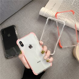 $enCountryForm.capitalKeyWord Australia - Simple transparent 8plus Apple x case XS Max XR iPhone X 7p 6 silicone personality couple soft case fashion wrestle-proof sleeve