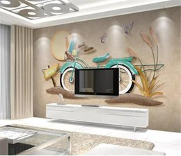 $enCountryForm.capitalKeyWord NZ - Custom Photo 3d Wallpaper European 3D Stereo Bicycle Home Decor Living Room Wall Covering