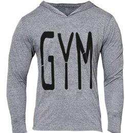 slim fit pullover hoodie men 2019 - GOLDS GYM Letter Print Slim Mens Hoodies Jogger Casual Hooded Sweatshirts Thin Fit Pullover Hoodies Mens Tops discount s