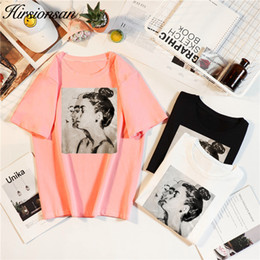 $enCountryForm.capitalKeyWord Australia - Hirsionsan 2019 Summer Korean T Shirt Women O-neck Short Sleeve Girls Print Tee Tops Harajuku Ulzzang Tumblr Woman Tshirts Y190508