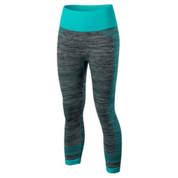 Red Black Leggings Wholesale UK - Women's Fitness Leggings Stretch Gym Running Yoga Sports Cropped Pants Fast Dry Running Pants