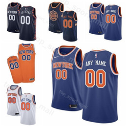 c5ddfda45 Printed Man Kids Woman New York Basketball Knicks Allonzo Trier Jersey 14 0  Kadeem Allen 5 Dennis Smith Jr. 1 Emmanuel Mudiay Kevin Knox