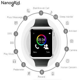 Bluetooth Smart Watch Sim Australia - A1 WristWatch Bluetooth Smart Watch Sport Pedometer with SIM Camera Smartwatch For Android Smartphone Russia T15 good than GT08