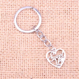 sweet 16 gifts Australia - 21*19mm heart sweet 16 KeyChain, New Fashion Handmade Metal Keychain Party Gift Dropship Jewellery
