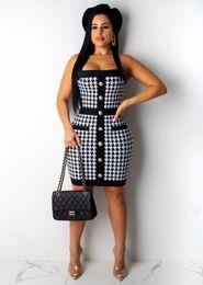 $enCountryForm.capitalKeyWord Australia - Fashion women's designer summer print halter halter dress sexy casual dress ladies tulle toddler one-piece skirt