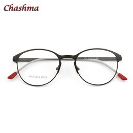 c77f692afdb Female Round Eyeglasses gafas mujer lente Stainless Steel Frame Optical  oculos de grau masculino optometria eye frames men
