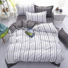 cream bedding Australia - Geometric Stripe Printed Girl Boy Kid Bed Cover Set Duvet Cover Adult Child Bed Sheet Pillowcases Comforter Bedding Set 61010