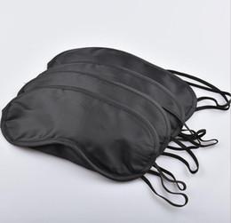 $enCountryForm.capitalKeyWord UK - DHL Free Black Eye Mask Shade Nap Cover Blindfold Mask for Sleeping Travel Soft Polyester Masks 4 Layers Factory Best Price