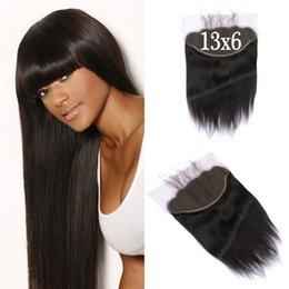 tangle shed free hair Australia - Top Grade 13x6 Lace Frontal Closure With Baby Hair Straight Virgin Human Hair 8-24 Inch Free Middle Part No Tangle No Shedding