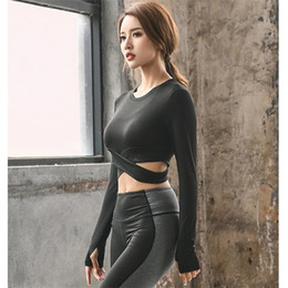 $enCountryForm.capitalKeyWord Australia - 2019 yoga long sleeve T-shirt for women gym fitness workout crop top clothes ladies sport running tee shirt quick dry breathable