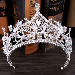 Alloy King Australia - 2017 New Arrival Luxury European Vintage Silver Wedding Crown Alloy Bridal Tiara Baroque Queen King Crown Crystal Tiaras Crowns J 190430