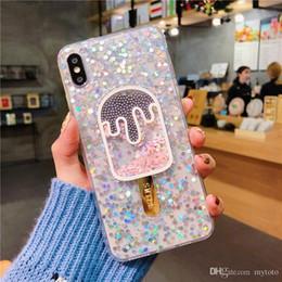 $enCountryForm.capitalKeyWord Australia - YunRT Glitter For Girl Coque For Iphone XS Max XR XS X Cover Liquid Quicksand Transparent Cute Ice Cream For Iphone 7 8 6 6S Plus Case
